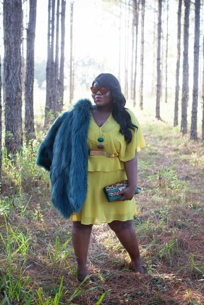 Musings of a Curvy Lady Yellow and Blue