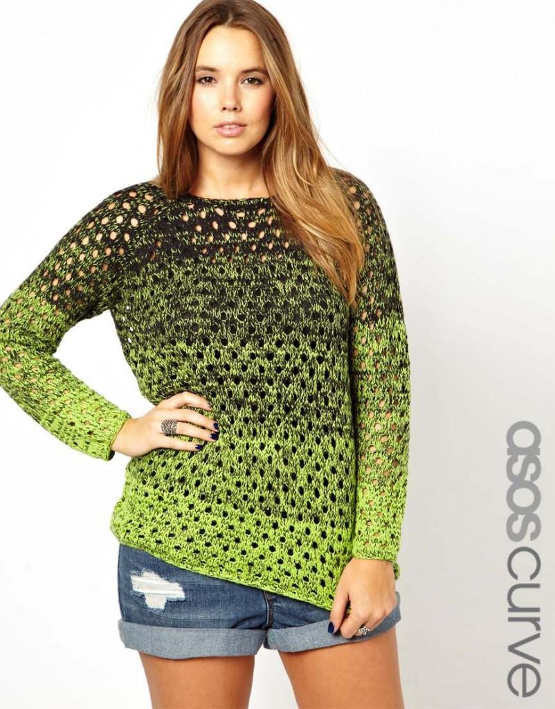 ASOSNeonOmbreSweater