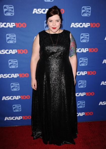 Mary Lambert's ASCAP Awards red carpet dress, designed by Helen Castillo