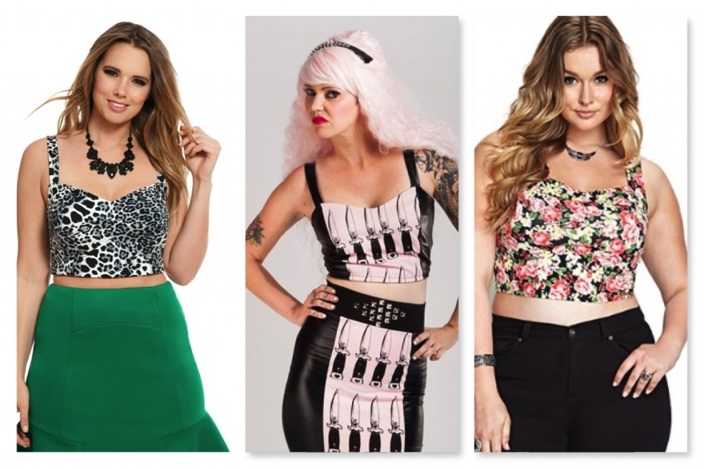 Bralette Style Plus Size Crop Tops from Eloquii, Candystrike, and Forever 21