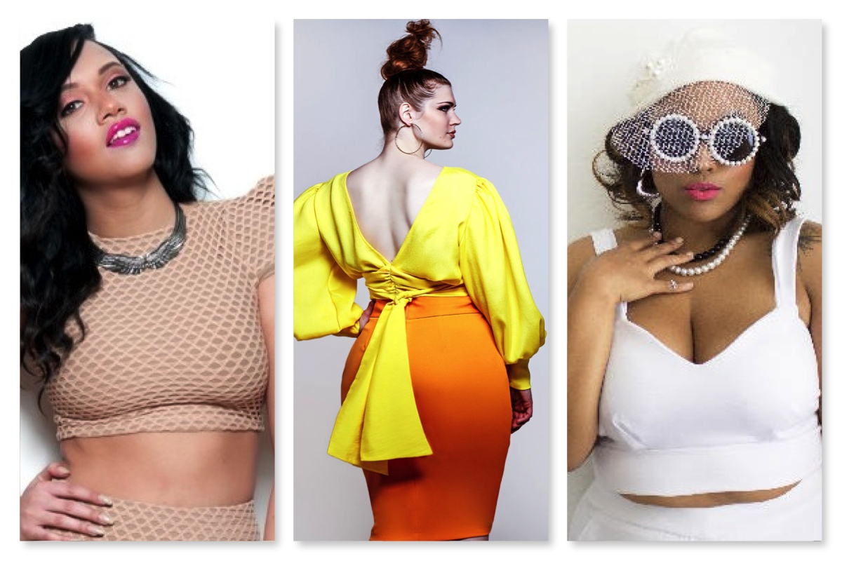 Indie Plus Size Designer Crop Tops from Rue 107  Jibri and Zelie for She. Curvily Spring Trend Report  Crop Tops   Curvily