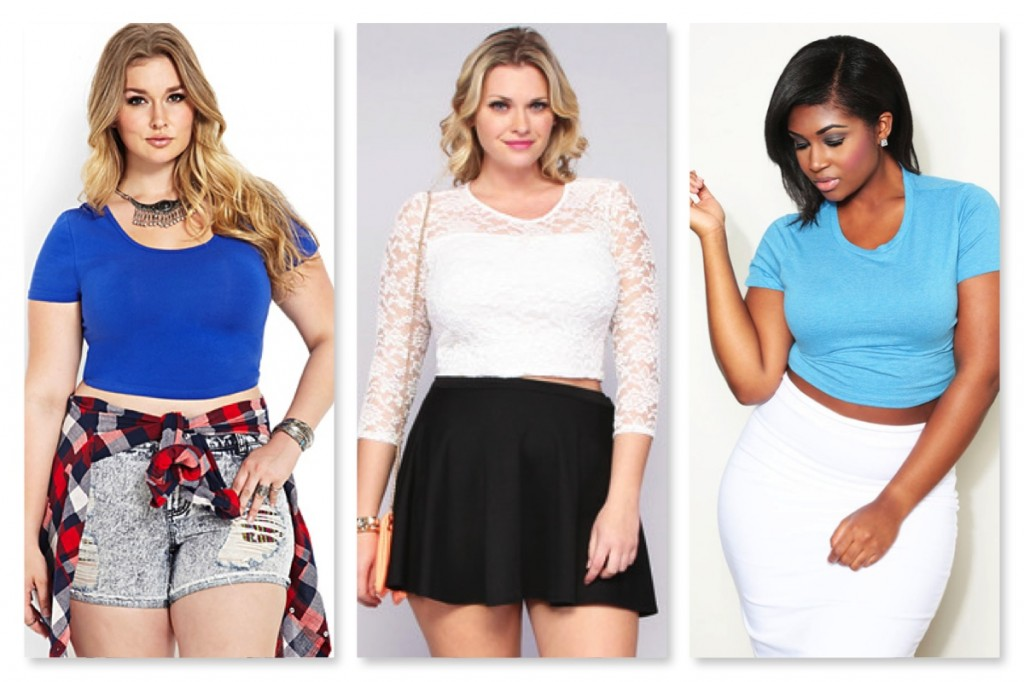 Inexpensive Plus Size Crop Tops from Forever 21, Image, and CustomPlus