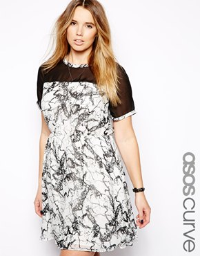ASOS Marble Skater Dress