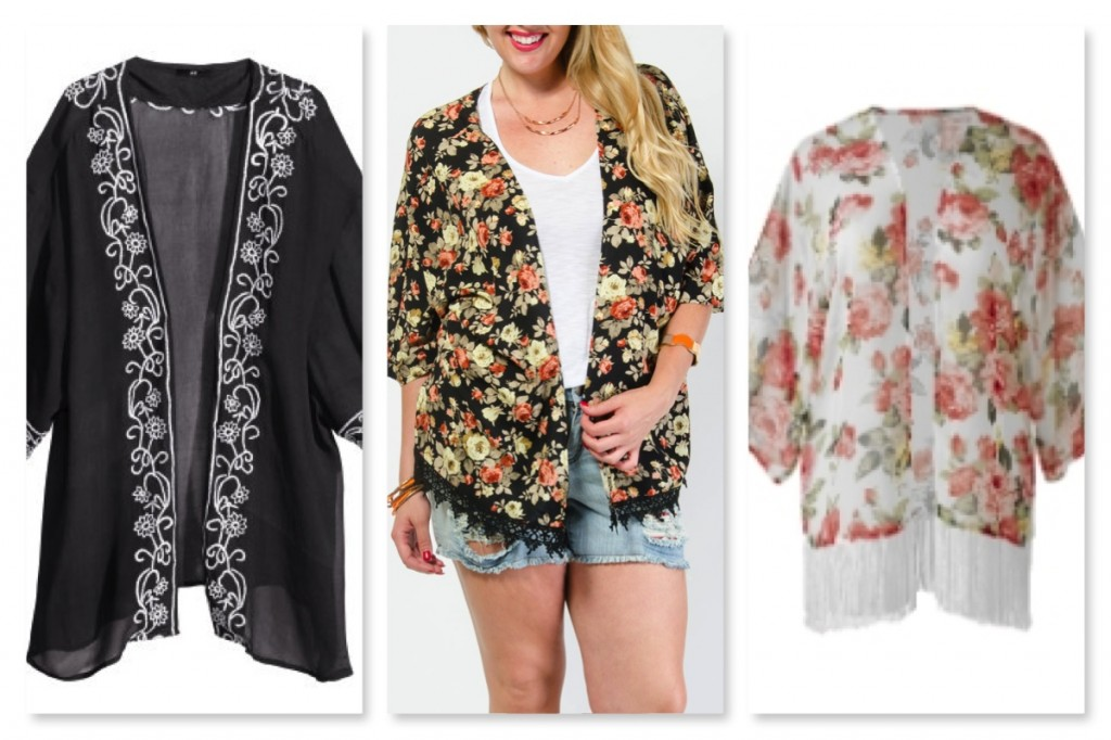 Plus Size Kimonos With Trim