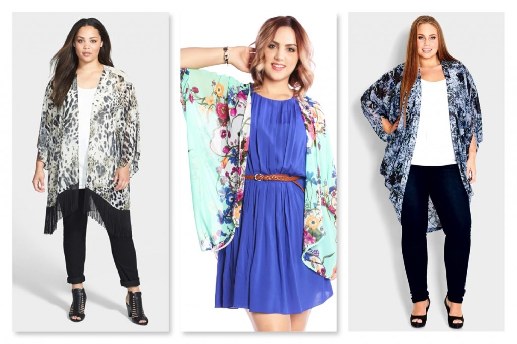 Plus Size Unique Print Kimonos