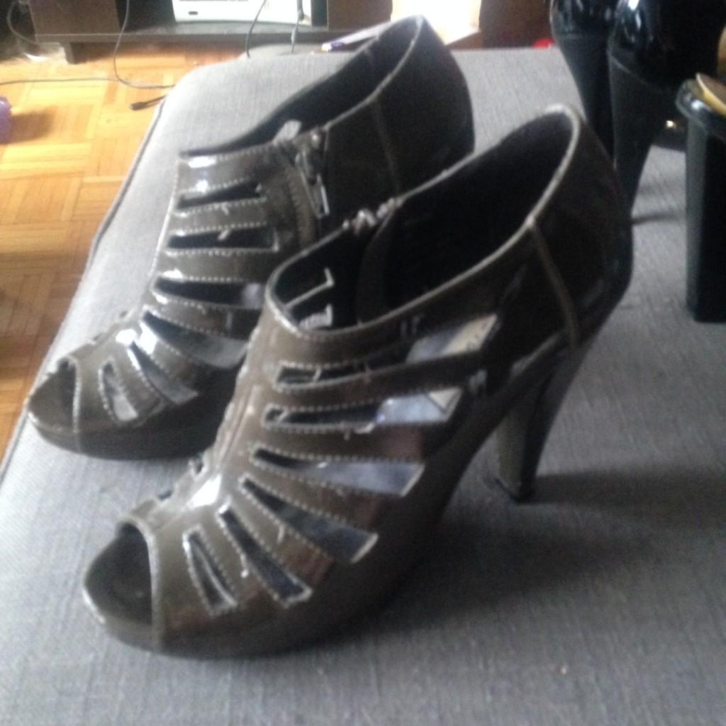 Steve Madden Strappy Open Toe Heels, $5
