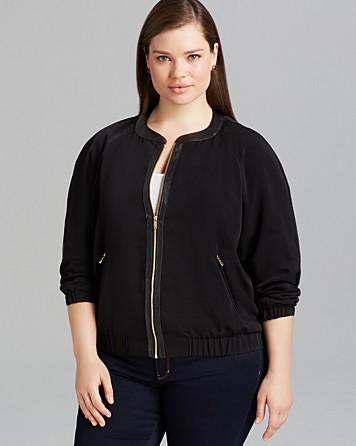Calvin Klein Faux Leather Trim Bomber, $25