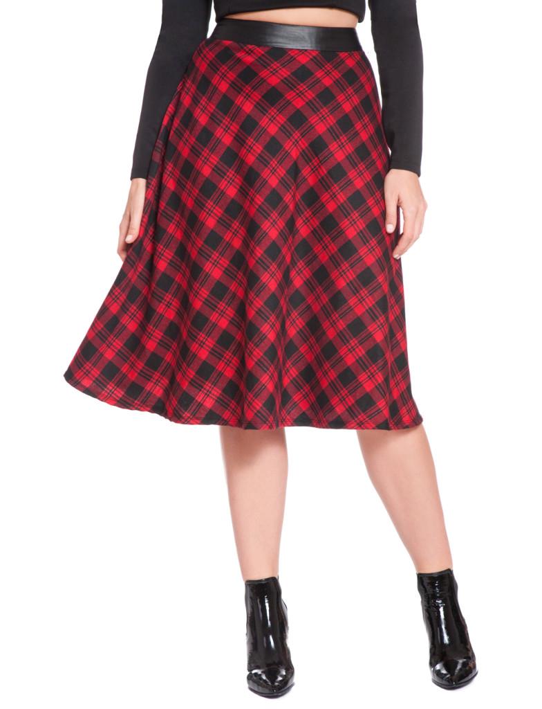 Eloquii Plaid Skirt