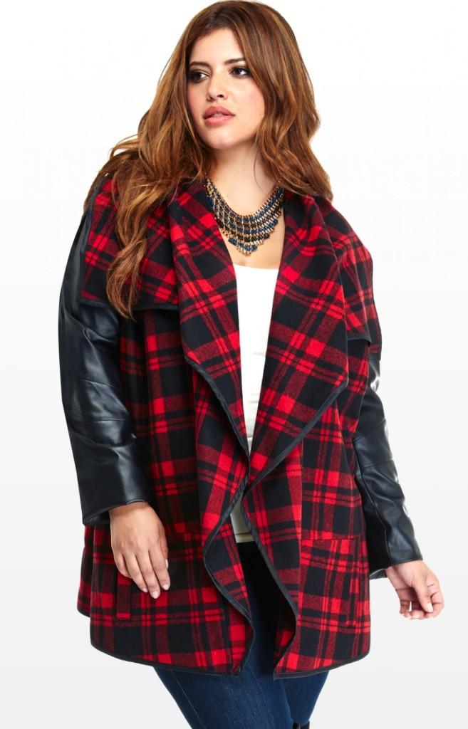 Fashion to Figure Plaid Jacket