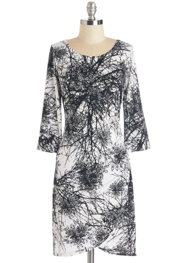 Modcloth Tree Branches Print Dress