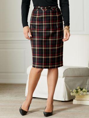 Pendleton Plaid Pencil Skirt