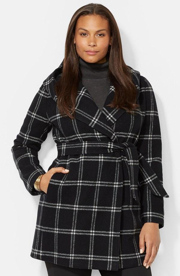 Ralph Lauren Plaid Wrap Coat