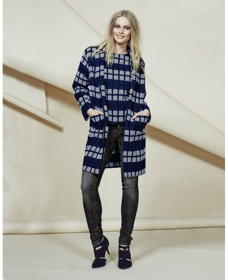 Simply Be Grid Check Coat