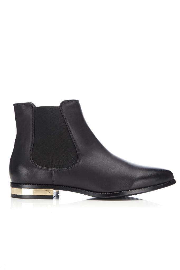 Wallis Gold Heel Chelsea Boot