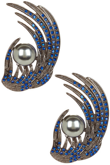 Bansri Rochelle Peacock Earrings