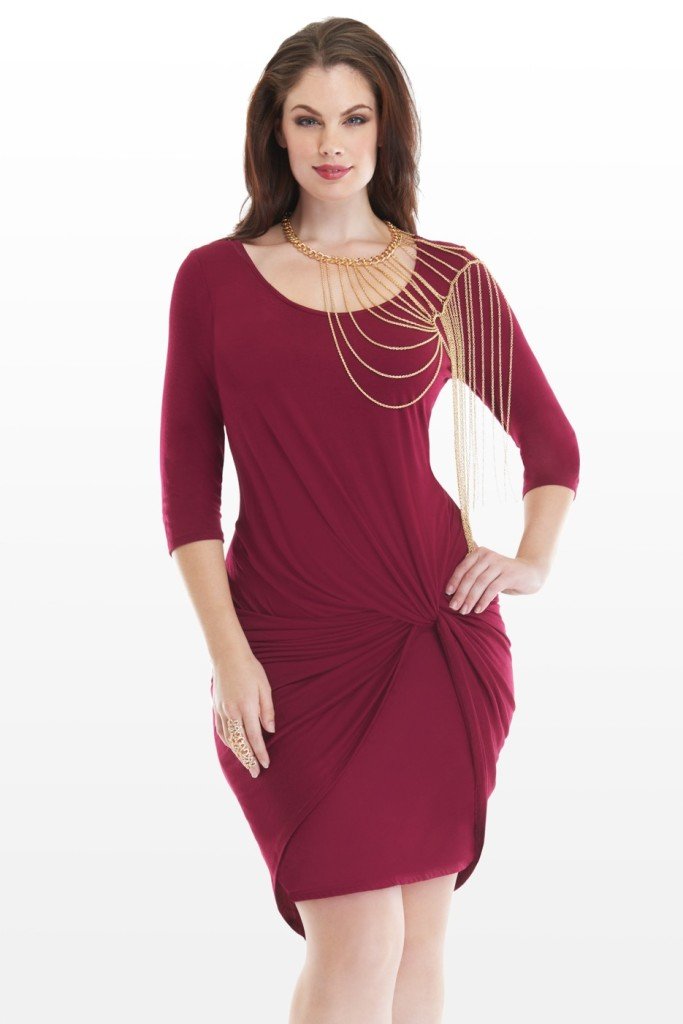 FTF Marsala Twist Dress