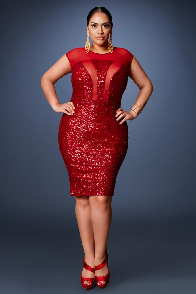Z by Zevarra Red Sequin Dress