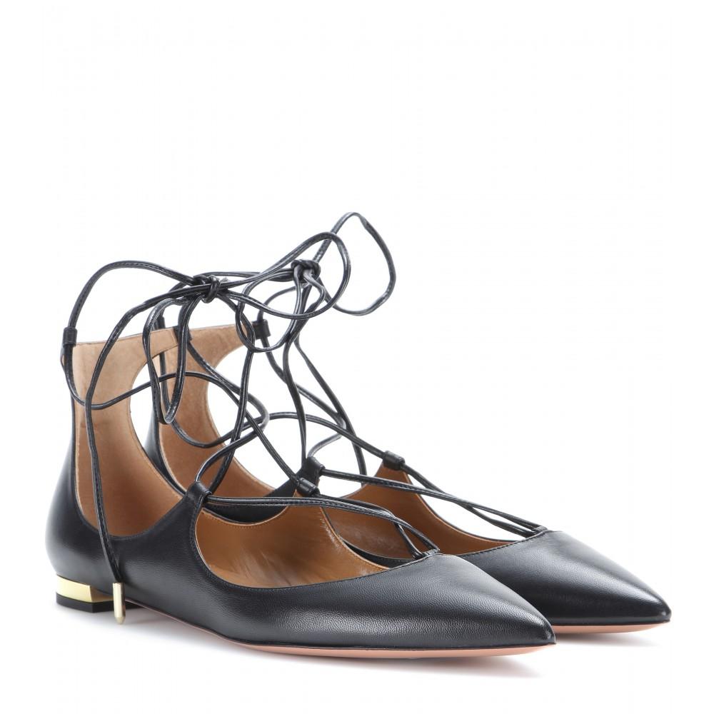 Shoe Crush: Aquazzura Lace Up Flats