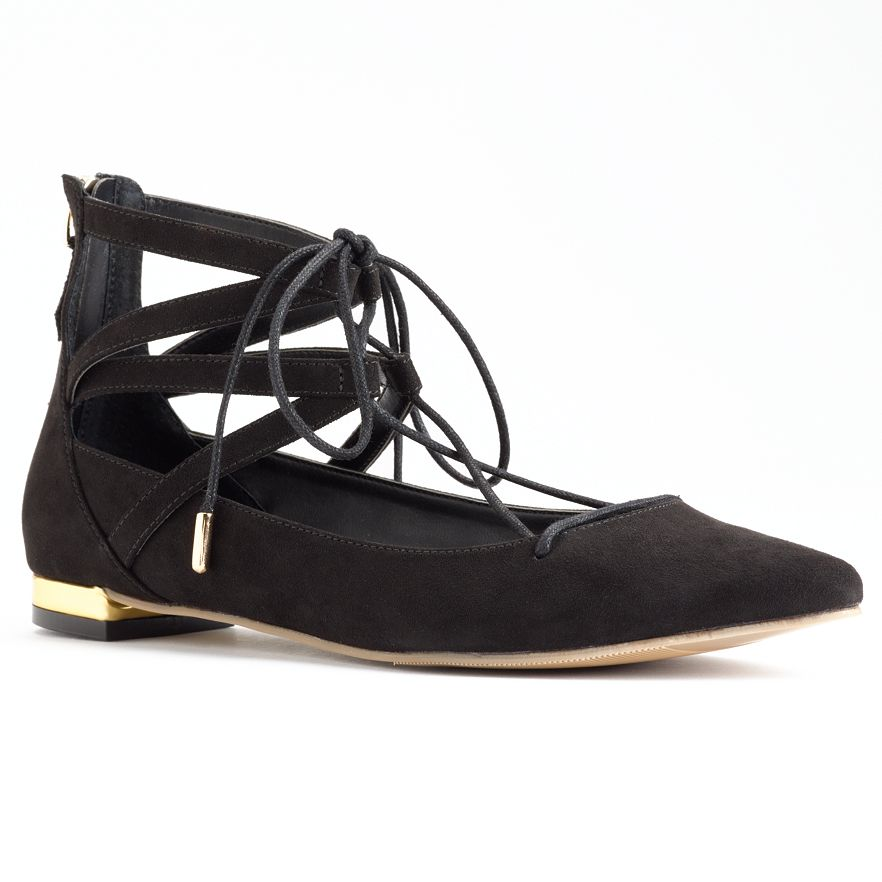 Rock and Republic Lace Up Flats