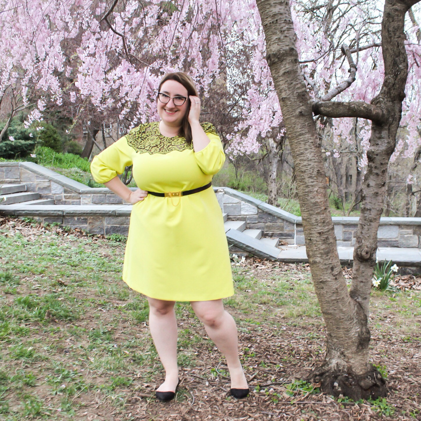 OOTD: Cherry Blossoms and Lela Rose