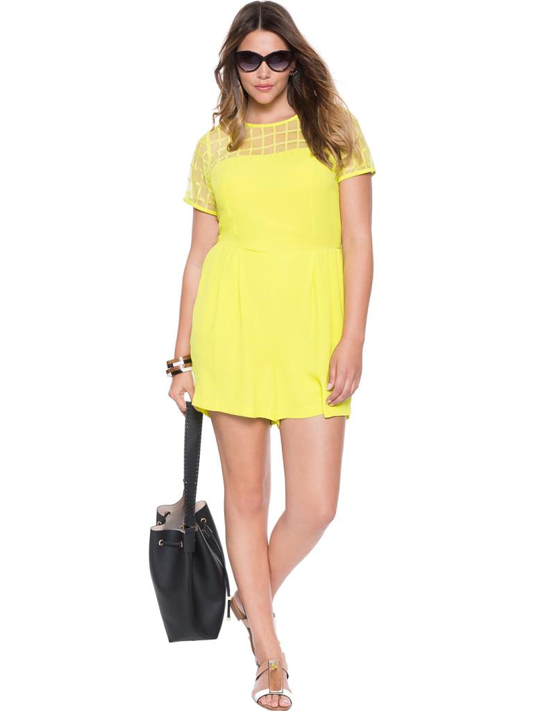 Eloquii Romper Yellow
