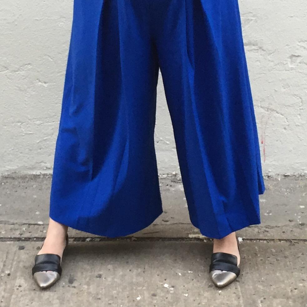 OOTD: Cobalt Culottes
