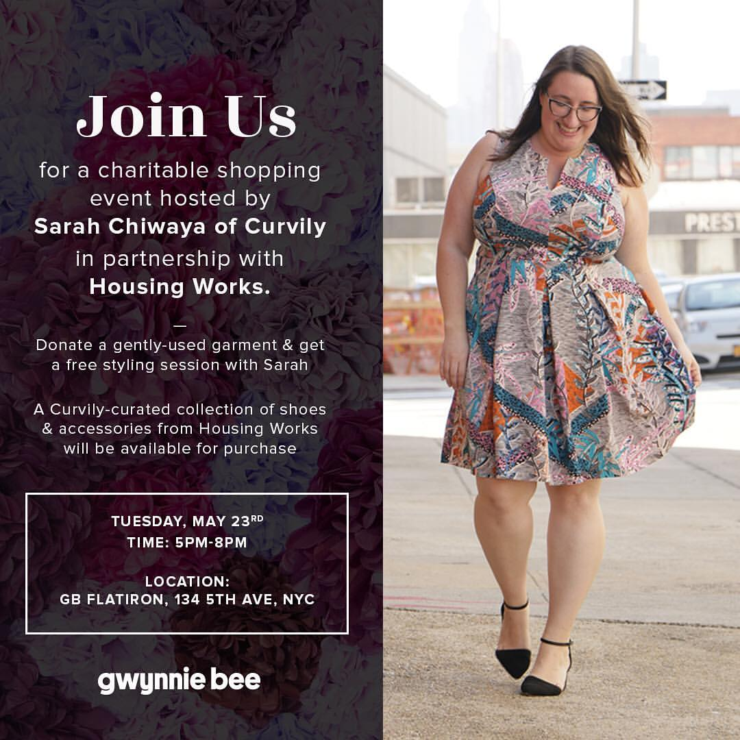 Tonight! Happy Hour with Gwynnie Bee and Housing Works